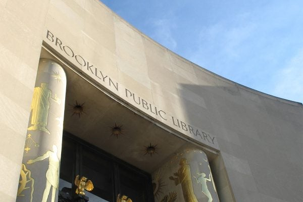 Exterior of the Brooklyn Public Library's central location.