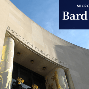 Brooklyn Public Library with Bard Microcollege logo.