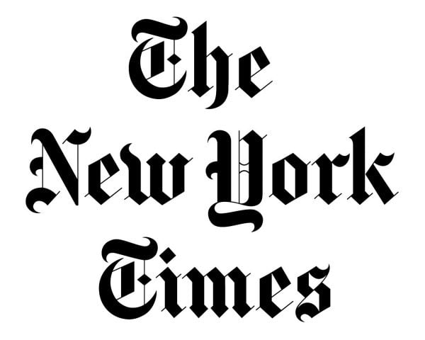 New York Times masthead stacked logo