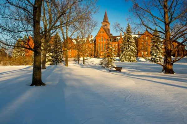 UVM Green in Winter by Sally McCay