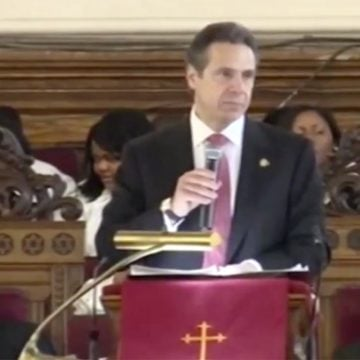 Governor Cuomo giving a speech