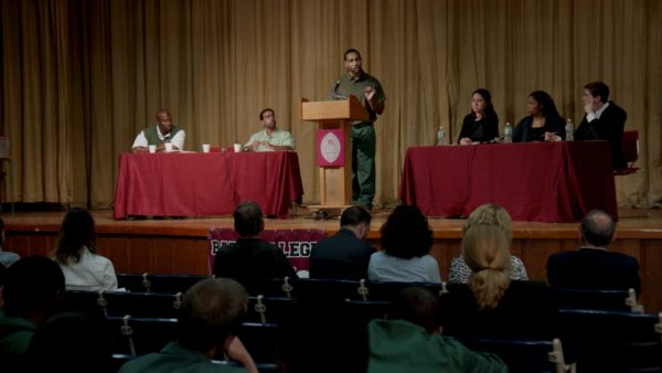 Bard Prison Initiative (BPI) Debate Union defeats Harvard University in September 2015. Photo: Skiff Mountain Films