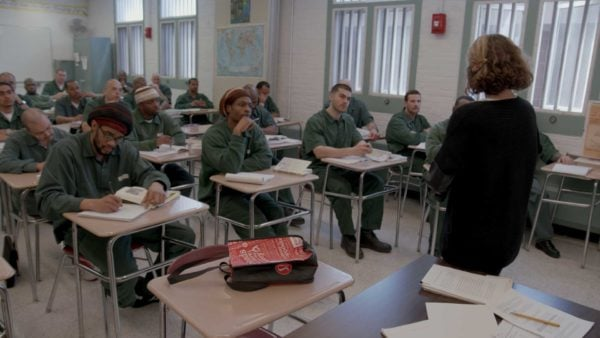 BPI students at Eastern New York Correctional Facility in an advanced bachelor's degree seminar.