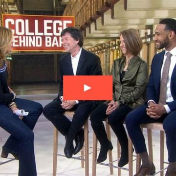 Hoda Kotb from the TODAY Show interviews Ken Burns, Director Lynn Novick and Dyjuan Tatro, a former member of a prison debate team that took on Harvard