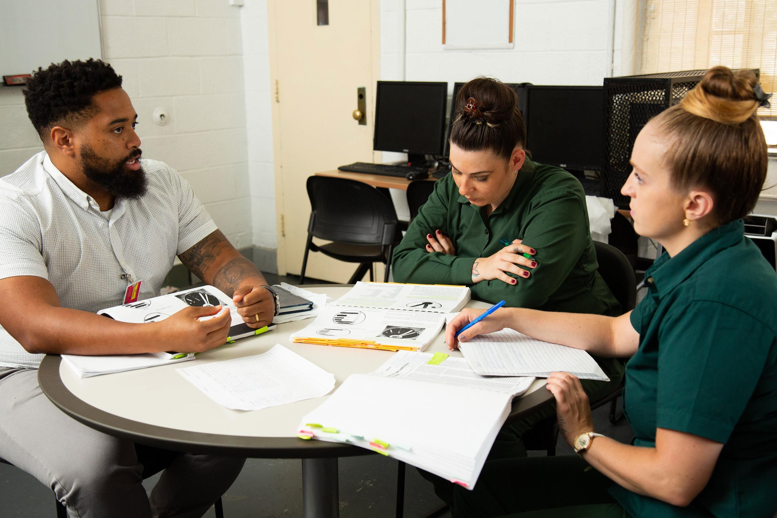 Students in class at Taconic Correctional Facility